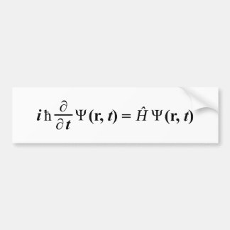 Schrödinger Gleichung Schrodingers Gleichung Autoaufkleber