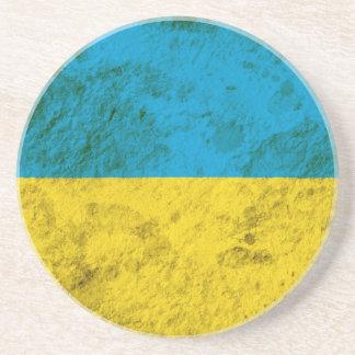 Schroffe ukrainische Flagge Sandstein Untersetzer