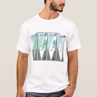 Schrumpfend Karte von Palästina T-Shirt