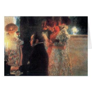 Schubert am Klavier durch Gustav Klimt Mitteilungskarte