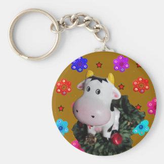Schüchterne Kuh Keychain Schlüsselbänder