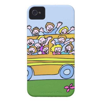 Schulbus-Reiter-Cartoon Case-Mate iPhone 4 Hüllen
