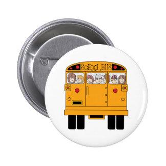 Schulbus-Rückseite Runder Button 5,7 Cm