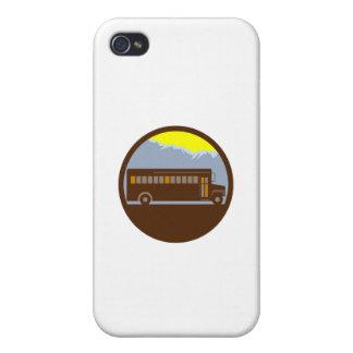 Schulbus-Vintager Gebirgskreis Retro iPhone 4 Case