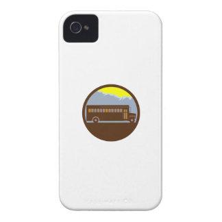Schulbus-Vintager Gebirgskreis Retro iPhone 4 Etuis