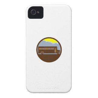 Schulbus-Vintager Gebirgskreis Retro iPhone 4 Hülle