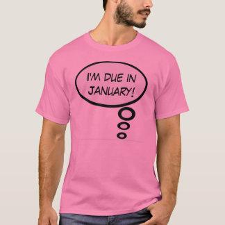 Schulden-im Januar Schwangerschafts-Shirt T-Shirt