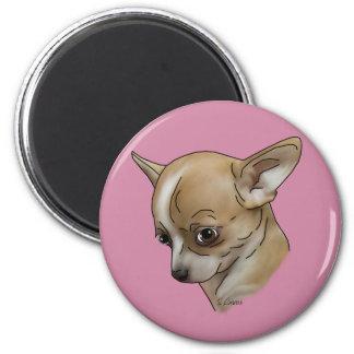 Schuldiger Chihuahua-Welpe Runder Magnet 5,1 Cm