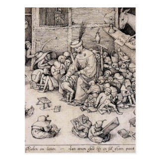 Schule durch Pieter Bruegel das Älteste Postkarte