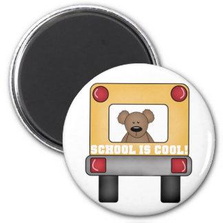 Schule ist cooler Schulbus Runder Magnet 5,7 Cm