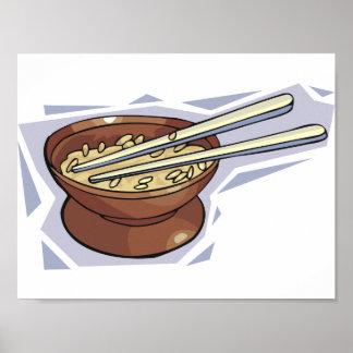 Schüssel des Reis-Plakats Poster