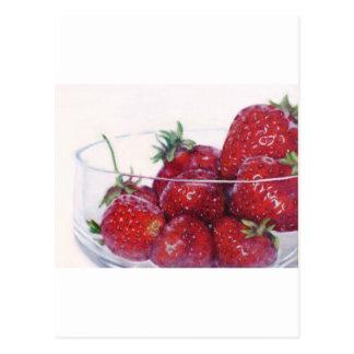 Schüssel Erdbeeren Postkarte