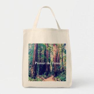 Schützen Sie den Wald Tragetasche