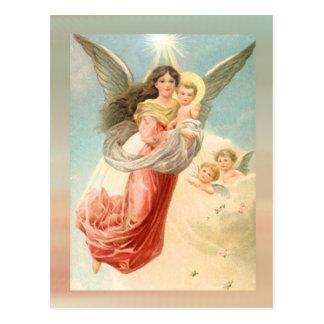 Schutzengel mit Kindern Postkarten