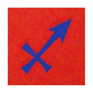 Schützesymbol Holzdruck