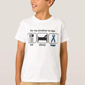 Schwager essen Schlaf-Hoffnung - Darmkrebs T-Shirt