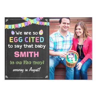 Schwangerschaft Ostern Eggcited decken Mitteilung Karte