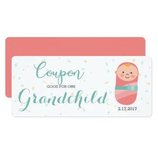 Schwangerschafts-Mitteilungs-korallenrotes 10,2 X 23,5 Cm Einladungskarte