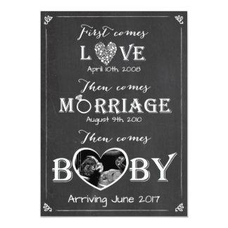 Schwangerschaftsmitteilungskarte Liebe-Heirat-Baby 12,7 X 17,8 Cm Einladungskarte