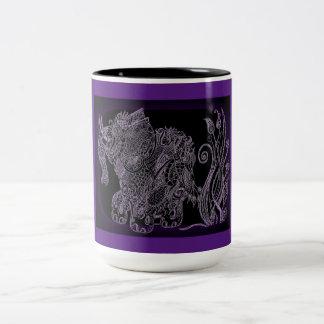 Schwarz 444 ml Zweifarbige Tasse Zenzia elefant