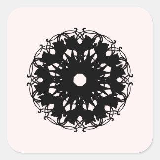 schwarz quadratischer aufkleber