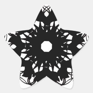 schwarz Stern-Aufkleber