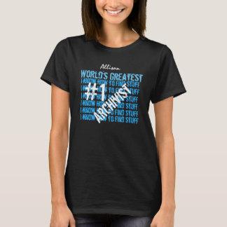 Schwarz-T-Stück V08 der ARCHIVAR der Welt beststes T-Shirt