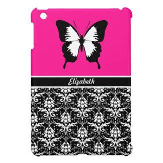 Schwarz u. weiß u. rosa mit den Flügeln kundenspez iPad Mini Hüllen