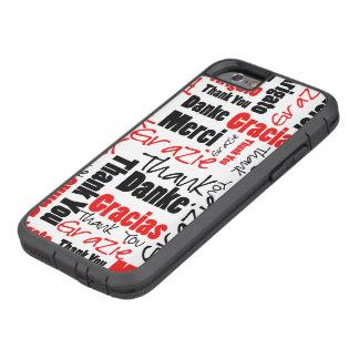 Schwarz und Rot danke, Wolke abzufassen Tough Xtreme iPhone 6 Hülle