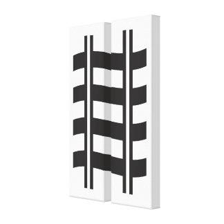Schwarz-weiß Gespannte Galerie Drucke