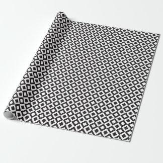 Schwarz-weiße Diagonalen der Schachtabelle Geschenkpapier