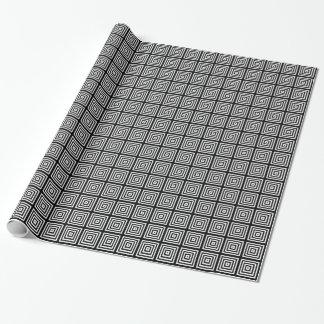 Schwarz-weiße elegante abstrakte geometrische geschenkpapier