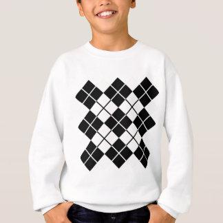 Schwarz-weiße Raute Sweatshirt