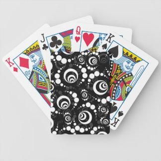 Schwarz-weiße Retro Ernte-Kreise Spielkarten