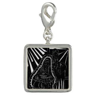 Schwarz-weißer abstrakter Nativity-religiöses Foto Charm