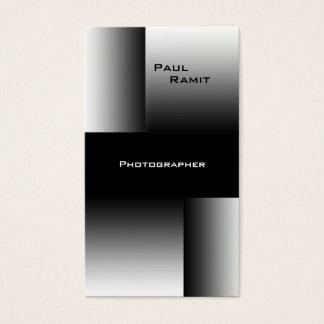 Schwarz-weißer Fotograf Chrom-Geschäfts-Karte BW 7 Visitenkarten