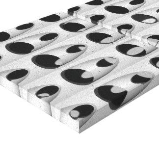 Schwarz-weißes abstraktes gespannter galeriedruck
