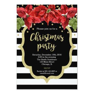Schwarz-weißes Gold der WeihnachtsParty Einladung