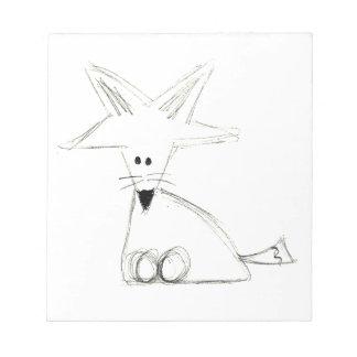 Schwarz-weißes graues einfaches Kinderzeichnen des Notizblock
