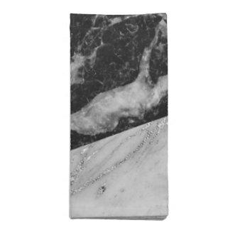 Schwarz-weißes u. silbernes modernes bezauberndes serviette