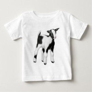 Schwarz-weißes Ziegen-Kinderbaby-Shirt Baby T-shirt