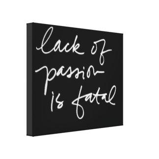 Schwarz-weißes Zitat-moderne Gespannter Galeriedruck