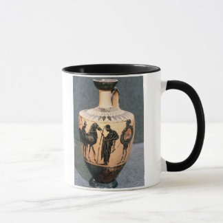 Schwarz-Zahl Dachboden-Vase, 5. Jahrhundert BC Tasse
