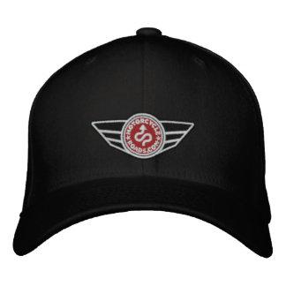 Schwarze Allkappe mit Rot gesticktem MCR Logo Besticktes Baseballcap