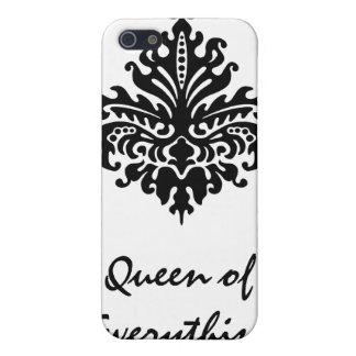 Schwarze Damast-Königin von alles Fall Iphone4 Etui Fürs iPhone 5