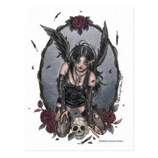 Schwarze Elends-Engels-Postkarte Postkarte