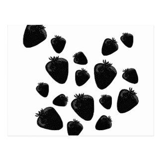 Schwarze Erdbeeren Postkarte