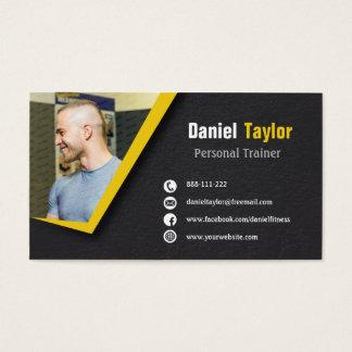 Schwarze Fitness-persönliches Trainer-Foto Visitenkarten