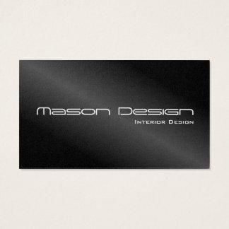 Schwarze Folie moderne Minimalistic Visitenkarte