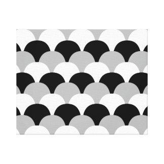 Schwarze, graue und weiße Gumdrops Gespannte Galeriedrucke